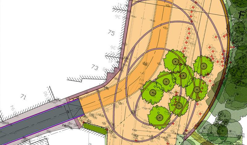 Plan dorpskern Snaaskerke