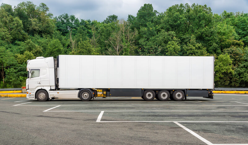 Parkeerplaats vrachtwagens